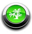Tropical 3d round button vector