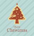 Christmas tree retro style vector
