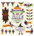 Halloween sale vector