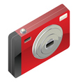 Red digital camera vector