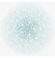 White paper snowflake vector