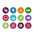 Media circle icons on white background vector