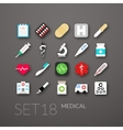 Flat icons set 18 vector