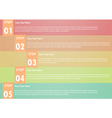 Five step infographics background vector
