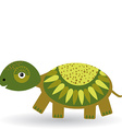 Funny turtle on a white background vector