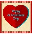 Vintage valentines day background vector