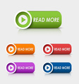Colored rectangular web buttons read more vector
