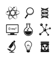 Chemistry and science icons set vector