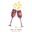 Colorful stars toasting wine glasses silhouettes vector
