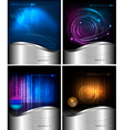 Four abstract technology and business backgrounds vector