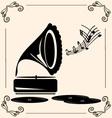 Vintage music vector