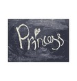 Chalk texture word princess vector