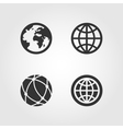 Earth globe icons set flat design vector