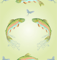 Seamless texture american trout vector