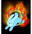 Rabbit jumping vector