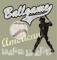 Ball game baseball vector