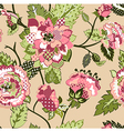 Rose seamless pattern vector