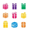 Set of colorful gift box vector