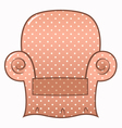 Vintage brown dotted chair isolated on white vector