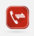 Incoming and outgoing call color square icon vector