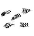 Racing flags in tribal style vector