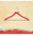 Clothes hanger retro poster vector