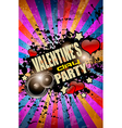 Valentines day party flyer background vector
