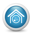 Blue glossy icon vector