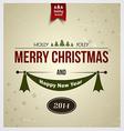 Merry christmas card 2 vector