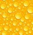 Seamless beer foam background with drops vector