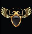 Gold eagle shield vector