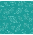 Flying green leaves seamless pattern vector