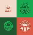 Floral emblems set vector
