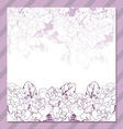Invitation cards with floral elements vector