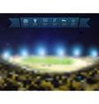 Blurred lights at night and stadium vector