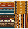 Set of african ethnic seamless patterns vector