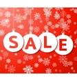 Christmas sale balls cut the paper vector