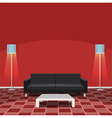 Modern living room - red vector