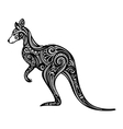 Decorative kangaroo vector