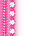 Pink background with flowers of pearls a vector