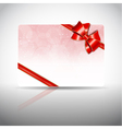 Gift card with ribbons and bow vector