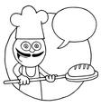 Baker holding bread vector