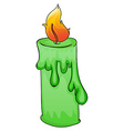 Green candle vector
