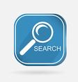 Square icon magnifier search vector