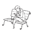 Man reading on chair vector