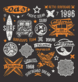 Surfing emblem and design elements vector