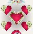Seamless texture heart with jasmine vector