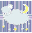 Frame with cute sheep vector