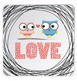 Love birds card1 vector