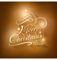 Calligraphy merry christmas typography vector